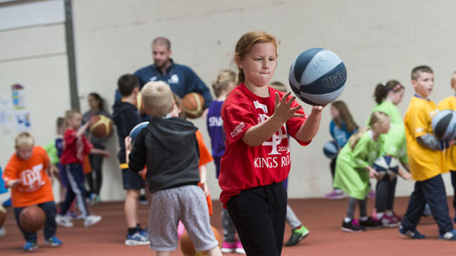 Active Schools basketball session