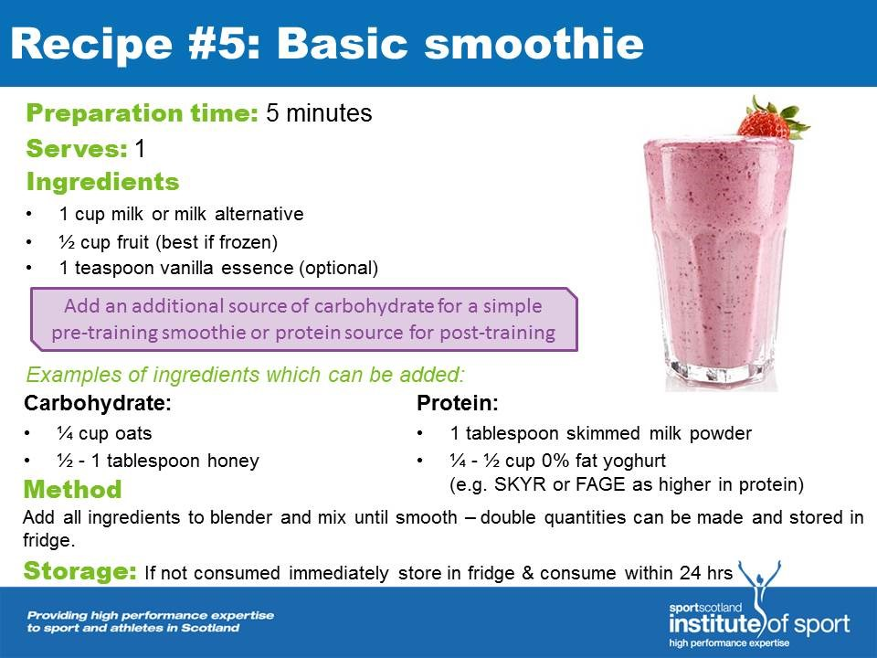 Recipe for success: Basic Smoothie