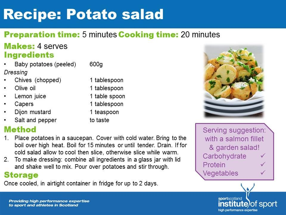 Recipe for success: Potato Salad