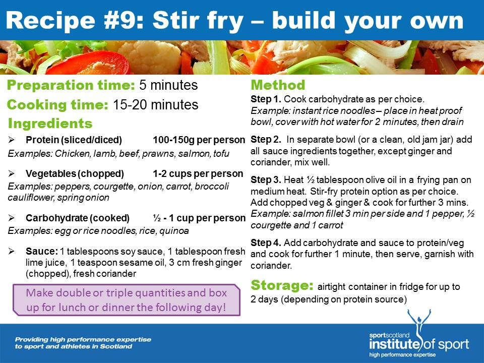 Recipe for success: Build Your Own Stir Fry