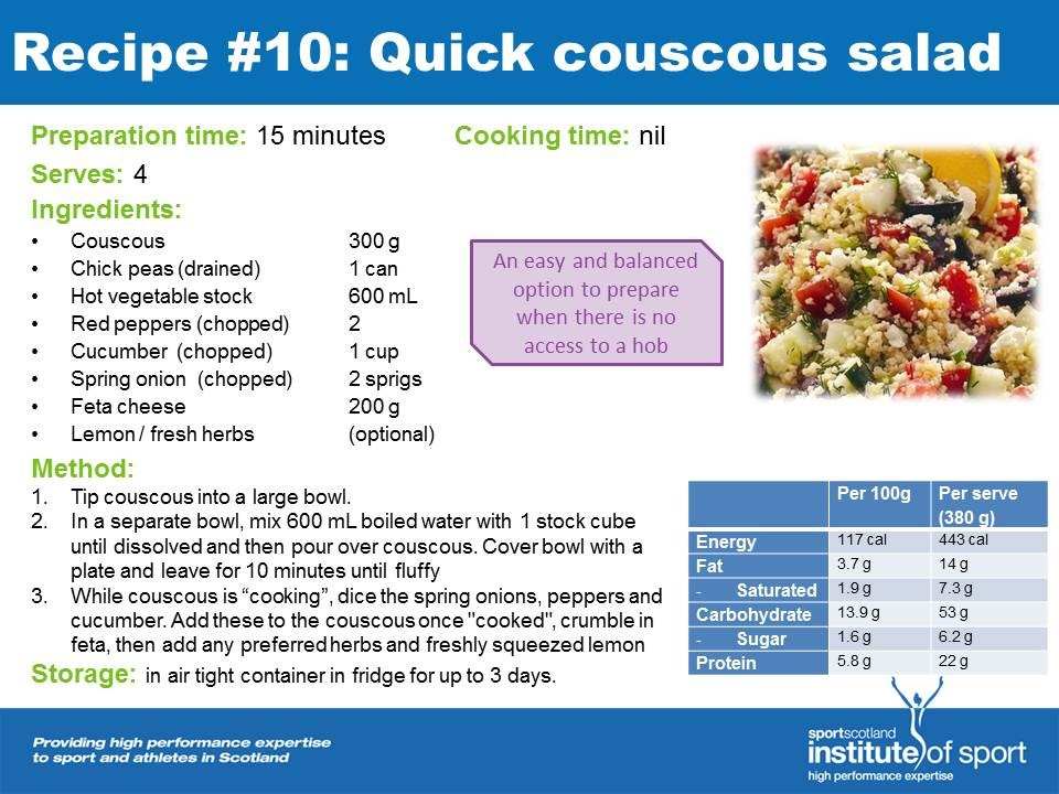 Recipe for success: Quick Couscous Salad