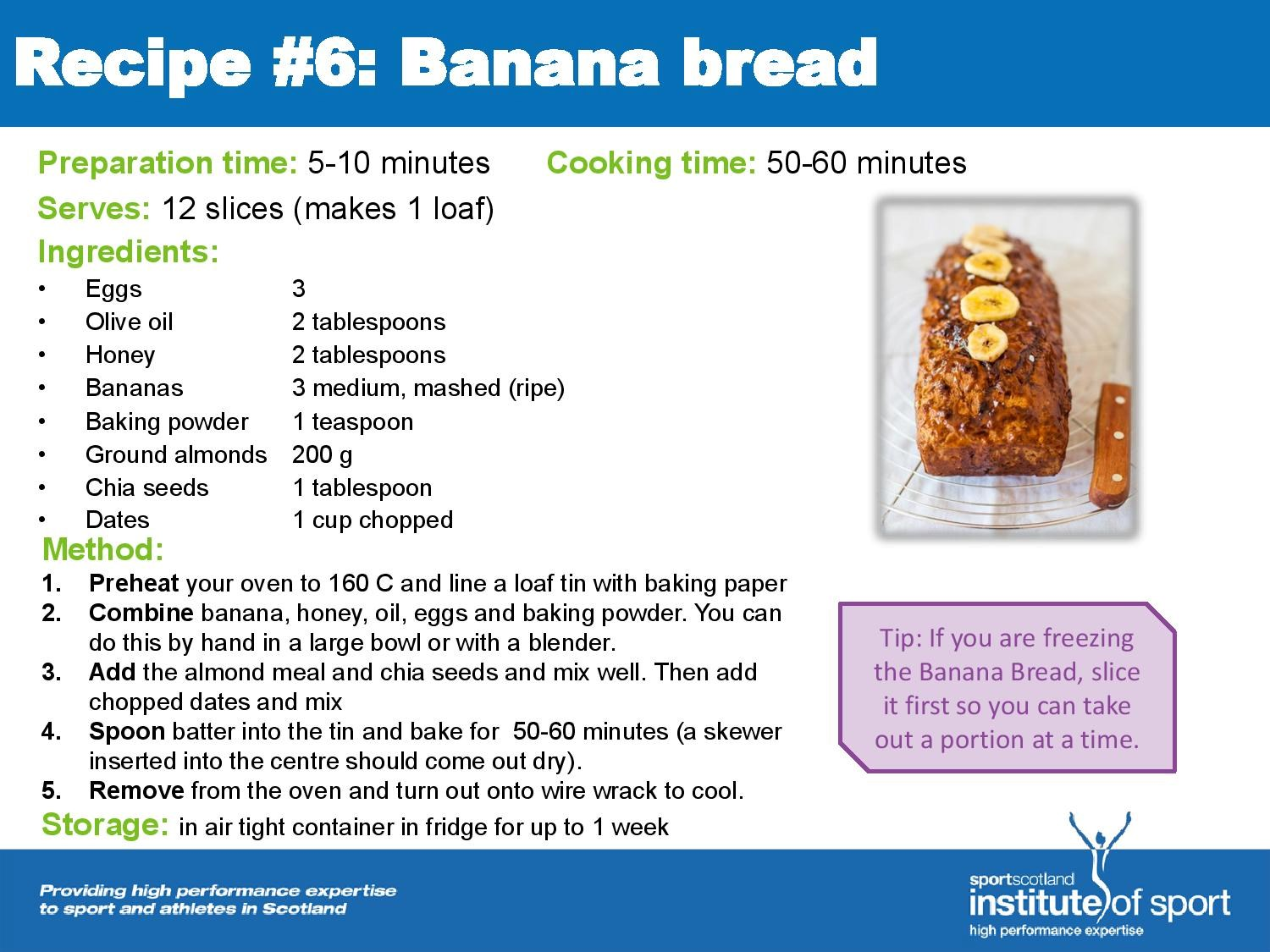 Recipe for success: Banana Bread